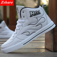 Fashion Men Casual Shoes Mens High Top Shoes Lace Up Comfort...