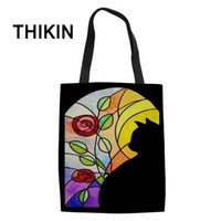 THIKIN Church Cat Printed Casual Tote Daily Use Single Shoul...