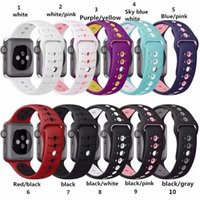 colorful sports silicone strap for apple watch series 4 3 2 ...