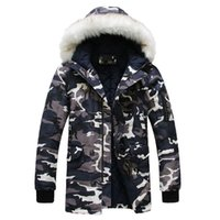 New 2019 Camouflage Down Parkas Jackets Men' s Parka Hoo...
