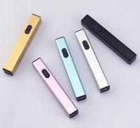 USB ARC Şarj Edilebilir Elektronik Elektrikli Darbe Çakmak Meşale Kamp Sigara Için 5 Renkler Ateşleyici Sigara Mutfak Aracı Bayan