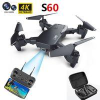S60 Drone RC Quadcopter HD 4K 듀얼 카메라 WiFi FPV Drones 높이 헬리콥터 키즈 장난감 유지 어린이 선물