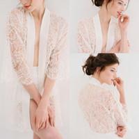 Yeni Sheer GirLandastiousDream Pijama Kadın Bornoz Aplike Yarım Kollu Tül Dantel Pelerin Kısa Balo Nedime Shawel