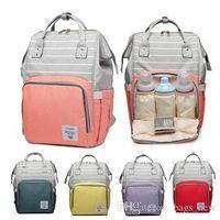 أكياس أزياء المومياء مخطط الأمومة الحفاض حقيبة سعة كبيرة الطفل حقيبة السفر حقيبة الظهر أنيق التمريض حقيبة لرعاية الطفل DHLFREE الشحن
