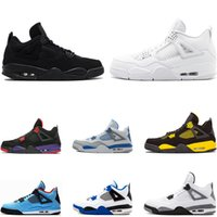 Top 4 4s Basketball Shoes for men bred Cactus Jack Pure mone...