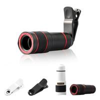 Универсальный зажим 14x оптический зум Камера телескоп объектив HD 4k телефон внешний телескоп телеобъектив для смартфона