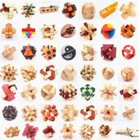 Quebra-cabeças de madeira quebra-cabeças de brinquedos de kong ming luban bloqueio brinquedos montar bola cubo desafio qi cérebro diy brinquedos educativos de madeira para crianças