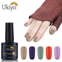 Ukiyo 10ml mate 1 étape gel vernis semi permanent ongles vernis non besoin de base de base de base trempe de gel UV LED gel en vernis