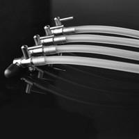 Luftflödesledning Rostfritt Stålkontrollventil Akvarium Pumprör Splitter Vattenluft Inlopp Fiskluftspumpar Tillbehör