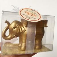 Golden Elephant Photophore Bougeoir Cadeaux de mariage Favors anniversaire Party Favors Festival Party Décoration Party Supplies événement