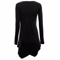 Stilvolle Frauen Saum Linie Langarm leichte Strick Tunika Tops T-Shirts New G20 DF1