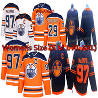 Edmonton Oilers Frauen Jerseys 97 Connor McDavid Jersey 29 Leon Draisaitl 93 Ryan Nugent-Hopkins-Hockeyjerseys