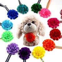 Цветок собаки Choker Отраженный свет Ошейники Симпатичные Chien щенок одеваются галстука талисманы зоотоваров Животные 1 41fj C2