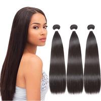 مستقيم الشعر حزم البرازيلي نسج الشعر حزم 100٪ غير المجهزة حزم اللون الطبيعي غير ريمي تصفيفة الشعر نسج
