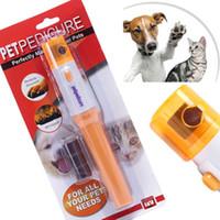 Mascota NaiNewest y estética Cuidado Clipper Trimmer Grinder archivo de herramientas de pulido Garras de manicura Dispositivo para el dedo del gato del perro patas del kit