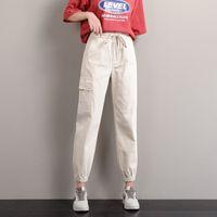 GUUZYUVIZ verde Harem denim pantaloni jeans donna a vita alta Jeans mamma Plus Size Pintados Mujer Estate 2020 Casual