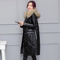 Feather coat long female 2018 winter thick coat new Korean f...