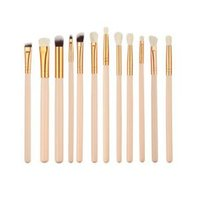 Professional Eyes Makeup Brushes Set Wood Handle Eyeshadow E...