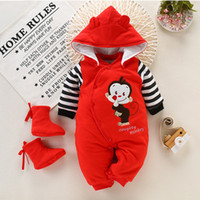 Baby Rompers Newborn Girl Winter Jumpsuit + Shoe Thicken Out...