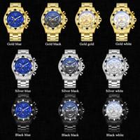 2021 Dropshipping Temete Uomo orologio cronografo orologio in oro orologi da quarzo da uomo impermeabile sport militare maschile orologi da polso gratis