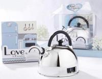 """Temporizador de tetera """"Love is Brewing"""" con cajas Paquete de regalo de boda Favor de fiesta"""