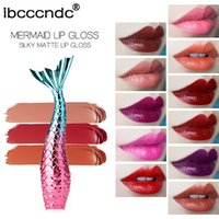 Ibcccndc Mermaid Matte Lip Gloss Beauty 20 Color Matte Lip Glaze Copa antiadherente Lip Gloss Makeup Lipgloss