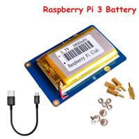 Tarjeta de expansión de la batería de litio del módulo de la fuente de alimentación Raspberry Pi 3 para Raspberry Pi con batería y cable micro USB