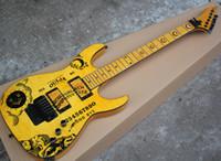 Guitare électrique de trois couleurs avec motif de lune, rose Floyd, touche de palissandre, peut être personnalisé en tant que demande