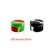 Coloré non-bâton de cire alimentaire ronde en silicone de qualité pour récipient en silicone Vaporizer Vape Jars Dab Oil Rig Rig verre Bong outil