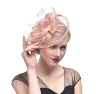 Nuovi accessori per capelli Fascinator Moda elegante Copricapo Perline di piume fantasia Perni per capelli Clip di capelli per cocktail Cocktail GB624