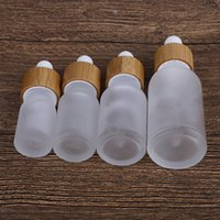 1PC Frost Glass Dropper Bottle 5ml 10ml 15ml 30ml Empty Cosmetic Packaging Container Vials Essential Oil Bottles Small Perfume Refillable fo