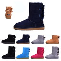 Women Boots Classic Snow ankle black chestnut blue coffee Gr...