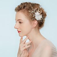 Vine accesorios del pelo nupcial de la boda floral del oro Tiara Celada de pelo hechas a mano de la venda de la joyería para la novia Jefe de la guirnalda de la guirnalda de noche Coronas