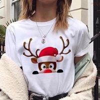 MLCRIYG новая мода Женская футболка Kawaii олень футболка женщины Рождество Harajuku с коротким рукавом футболка белая футболка топы одежда