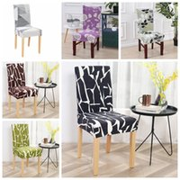 Rimovibile casa copertura della sedia modo contratto Copertine stampate Spandex elastico Fodera Sedia contratte Sedie da sposa Decor WY536-4Q