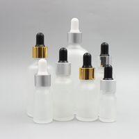 5 10 15ml زجاجات زجاجية مجمدة بنبور عين زجاجي 20 30 50 100ML قنينة زيت أساسية للزيوت الضرورية عطور Colognes