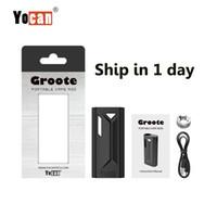 Original Yocan Groote Box MOD E-Cigarette Kits Préchauffez la tension variable avec le connecteur magnétique Ajustement de l'huile pour 510 TRUPER TENDRE EN STOCK