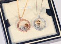 Fashion- Lua Feliz Diamante Series Mulheres Pingente Colar de Jóias de Luxo para Mulheres Aniversário Ano Novo Presente