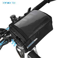 Roswheel New Bike Frame Bag PVC Map Pocket Top Tube Bag Alforja para bicicleta Bastidor delantero Bolsas de almacenamiento Riding Cycling Handlebar