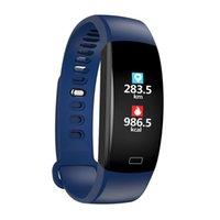 F64 Smart-Armband Armband Blut-Sauerstoff-Monitor-Uhr GPS Wasserdicht Schlaf-Monitor Fitness Armband Smart Watch Anruf Alarm für iOS Android