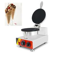 Enkelt Head Ice Crea Cone Machine Rostfritt Stål Vaffelskål Maker Waffle Cone Iron Making Pan Equipment