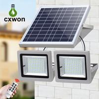 Solar-Flutlicht-Doppel-Kopf-Lampen LED-Scheinwerfer 60LEDS 120LEDS 160LEDS 200LEDS Landschaftslicht für Garten im Freien