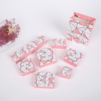 [간단한 세븐] 불규칙한 형상 보석 상자, 트렌드 반지 선물 케이스, 목걸이에 대한 PinkWhite 쥬얼리 저장, 이세이 스타일 펜던트 디스플레이