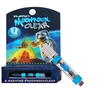 New MoonRock Clear Carts Vape Cartridge 1. 0ml 1 Gram Ceramic...