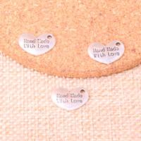 141pcs encantos mão do coração feito amor 15 * 10mm Antique ajuste Fazendo pingente, prata tibetana do vintage, DIY artesanal jóias
