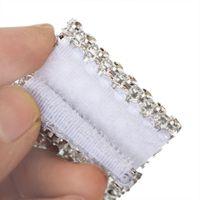 Кольца салфетки высокая 10шт сетка отделку Bling Diamond Wrap торт кольцо рулон кристалл ленты вечеринка свадебный стол украшения UEJ