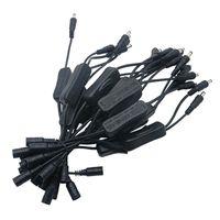 5.5 * 2.1mm 미니 스위치 스트립 ON / OFF 블랙 / 화이트 커넥터 및 DC 어댑터 SMD 5050 3528 단일 색상 스트립 30pcs