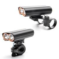 Beleuchtung USB wiederaufladbare Fahrradleuchte 2000lm Sicherheits-Taschenlampe LED-Fahrrad-Front-Lenker 2 Halterung-Halter-Zyklus-Zubehör