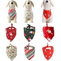 Cane abbigliamento cani natalizio Costume Costume Triangolare Bandanas Sciarpa per animali domestici per cani Cats Nevrino per cani Abbigliamento per cani Decorazione natalizia PET WX9-1803
