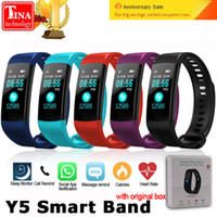 Y5 fitbit Smart Band Watch Color Screen Wristband Heart Rate...